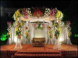 آموزش خدمات گل آرایی گل کاری ماشین عروس سالن مراسم اتاق سفره خنجه عقد قشم | سفره عقد قشم و گل آرایی اتاق عقد قشم