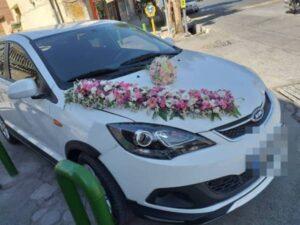 بهترین مدل های گل آرایی گل کاری ماشین عروس در محل در ارومیه آذربایجان غربی | گل آرایی ماشین عروس گل فروشی های ارومیه