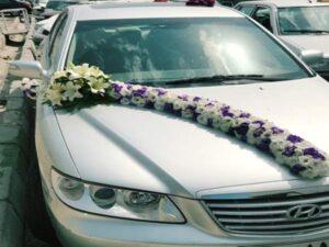 جدیدترین مدل های گل کاری و گل آرایی ماشین عروس در محل توسط بهترین ارزان قیمت ترین گل فروشی های سنندج کردستان