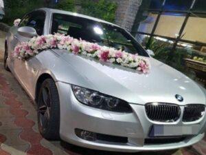 جدید ترین مدل های گل کاری گل آرایی خودرو و ماشین عروس در کیش | گل فروشی های کیش برای گل آرایی و گل کاری ماشین عروس کیش