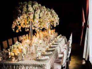 قیمت گل آرایی مراسم و مجالس عروسی و تولد قزوین | گل آرایی و گل کاری تالارها و باغ تالارهای قزوین