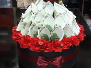 قیمت گل آرایی و تزئین پول برای عروسی و تولد یزد | سفارش گل آرایی و تزئین پول برای عروسی و تولد یزد مهریز اردکان میبد