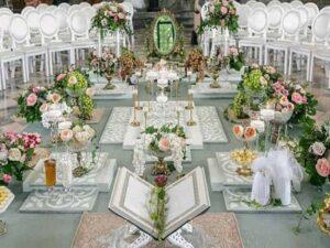 گلفروشی ها سفارش دسته باکس تاج گل و گل آرایی سفره اتاق مراسم تولد عروسی گل کاری اتاق عقد ماشین عروس سنندج کردستان