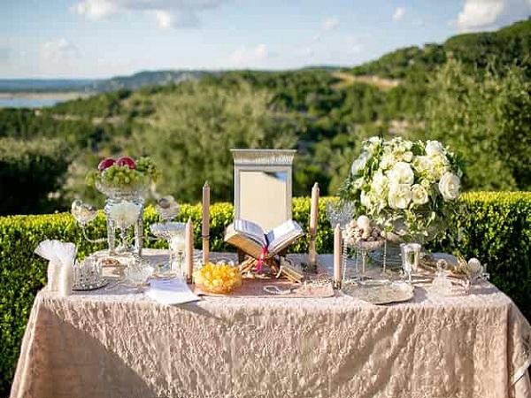 گل آرایی سفره عقد و گل کاری ماشین عروس و مراسم تولد و تالارها در رشت و گیلان توسط بهترین گل فروشی های رشت و گیلان