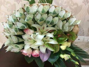 گل آرایی و تزئین پول برای عروسی و تولد ارومیه | مرکز خرید وسایل سفره عقد ارومیه | قیمت کرایه وسایل سفره عقد ارومیه