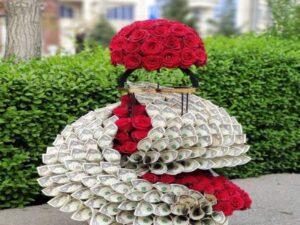 گل آرایی و تزئین پول برای عروسی و تولد اصفهان   آموزش گل آرایی مجالس و عروسی اصفهان   آموزش خدمات گل آرایی