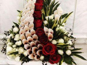 گل آرایی و طراحی اجرای تم تولد در رشت و گیلان| قیمت گل آرایی و تزئین پول برای عروسی و تولد رشت