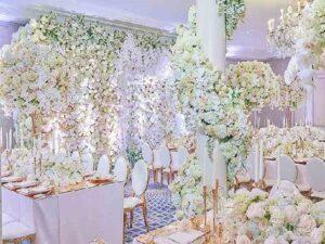 گل آرایی و گل کاری تالارها و باغ تالارهای کیش | قیمت گل آرایی مراسم و مجالس عروسی و تولد کیش