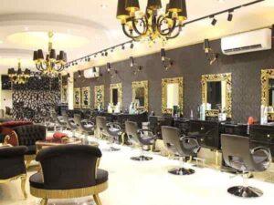 آرایشگاه های زنانه میکاپ آرایش عروس فر کراتینه رنگ اصلاح کوتاهی مو ابرو پاکسازی پوست سالن زیبایی گلسار رشت