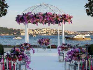 سالن باغ تالارهای عروسی لوکس لاکچری ابوظبی شارجه امارات | باغ سالن تالار عروسی پذیرایی دیره بردبی مارینا جمیرا